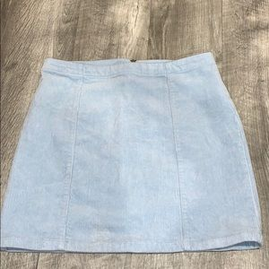 Forever 21 Light Blue Jean Mini Skirt